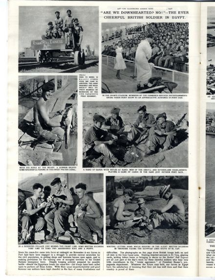 1956 ILLUSTRATED LONDON NEWS Olympics  REFUGEES HUNGARY Port Said SUEZ CRISIS Hazor NEWSPAPER (0316)